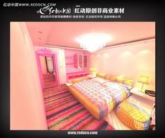 MM主题卧室3d模型设计源文件