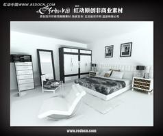 现代卧室max模型设计