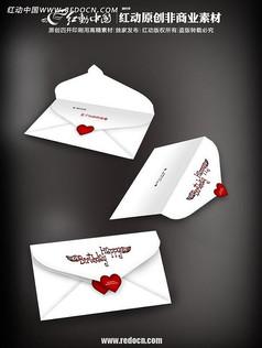 白色情侣贺卡设计