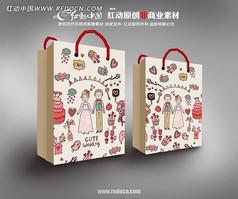 婚庆糖果手袋包装设计