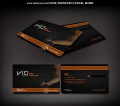 健身房经典VIP会员卡设计