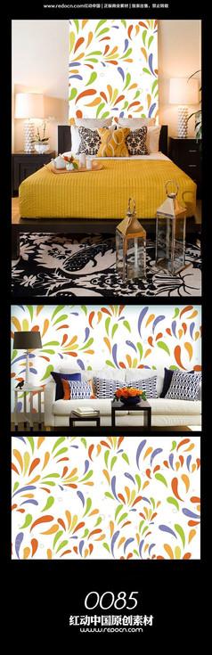 抽象水草背景墙图案设计