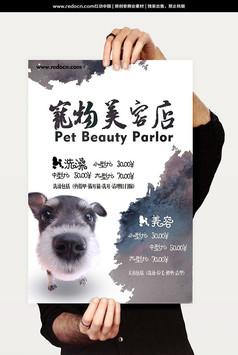 宠物美容店宣传海报