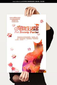 宠物生活馆促销海报