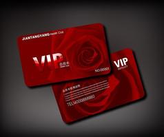 玫瑰vip会员卡设计