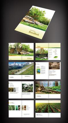 绿色农业画册版式设计