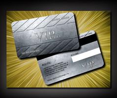 炫酷金属商务VIP卡设计