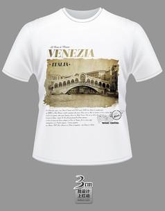 古典建築風景文化衫