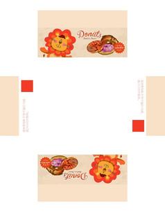 可爱小狮子甜甜圈包装