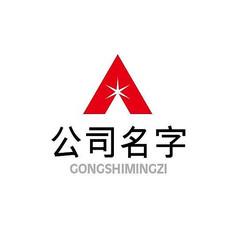 �t色五角星A字母logo