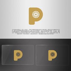 金色字母简洁汽车轮胎LOGO
