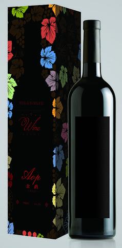 黑色高端红酒包装