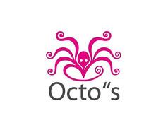 粉色创意章鱼logo