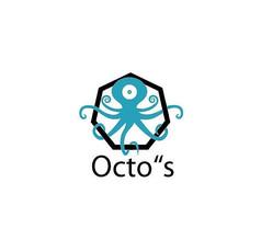 蓝色时尚章鱼logo