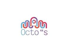 彩色线条章鱼logo