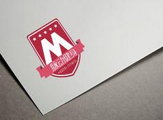 红色大气健身logo