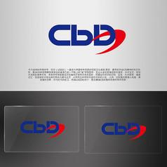 CBD字母LOGO螺旋旋�L商��