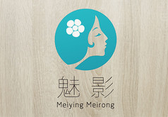 蓝色时尚魅影美容logo