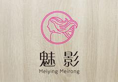 粉色靓丽魅影美容logo