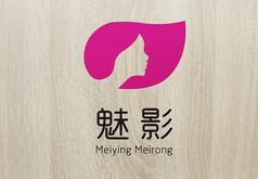 粉色华丽魅影美容logo