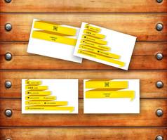黄色个性名片
