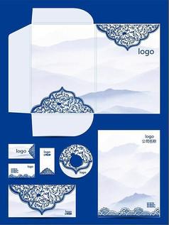 中国风青花瓷vi设计