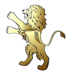 威风立姿狮子素材设计