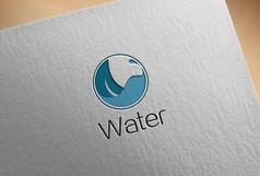 蓝色水元素logo