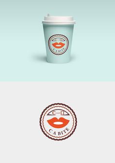 抽象嘴唇造型饮料LOGO