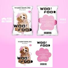 粉色清新��物零食包�b�O�