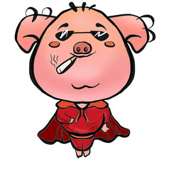 2019猪事大吉小猪元素