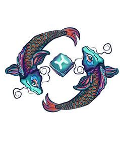 原创元素12星座双鱼座