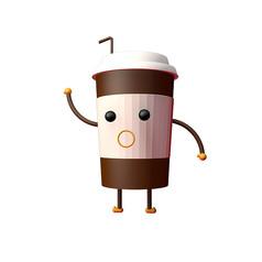 原��C4D卡通咖啡杯素材