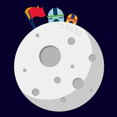 原创元素太空月球