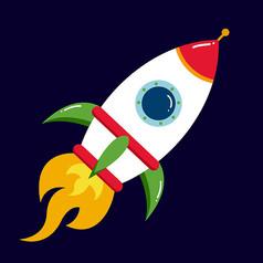 原创元素太空火箭