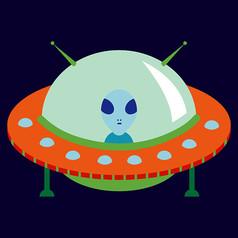 原创元素太空UFO