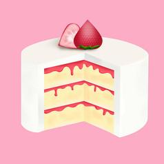 原��元素卡通甜�c蛋糕
