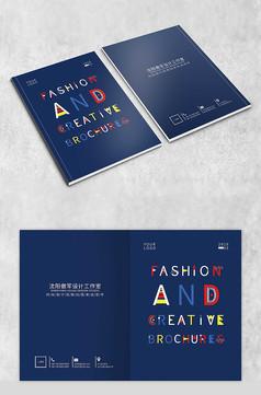 时尚英文字母封面设计