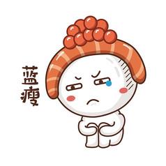 原创元素手绘寿司表情