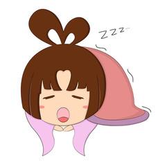 原創中秋嫦娥熟睡表情