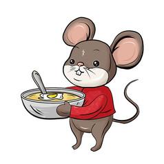 原创元素手绘新年老鼠