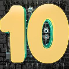 原創元素創意數字10立體字