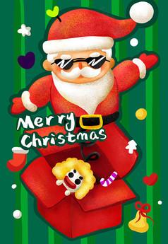原创可爱的圣诞老人