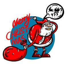 原創元素聖誕老人麋鹿丟了