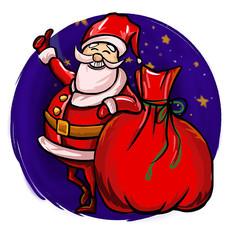 原創元素聖誕老人大禮包