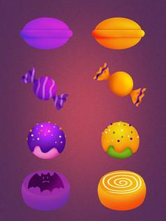原创元素万圣节创意糖果
