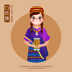 原��元素56��民族人物插��-�T巴族