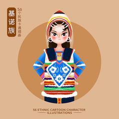 原��56��民族人物插��-基�Z族
