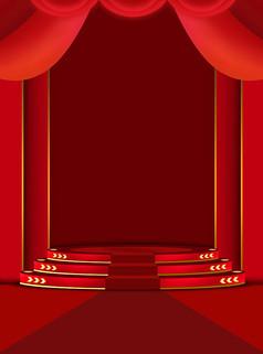 原创元素大气红色促销背景素材