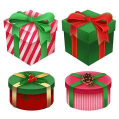 原创圣诞手绘礼物盒子